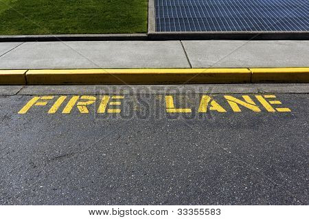 Yellow fire lane