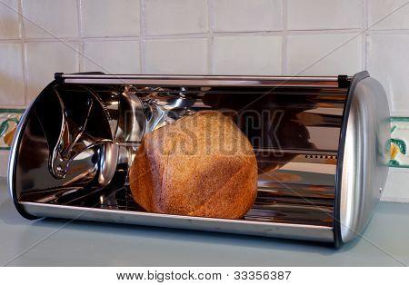 Homemade Bread In A Bread Box