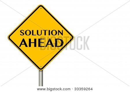 Solution Ahead Sign