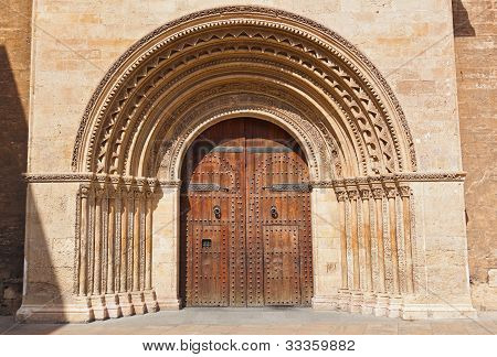 Entrance Of The Cathedral - Valencia Spain