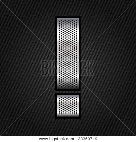Letter metal chrome ribbon - Exclamation mark