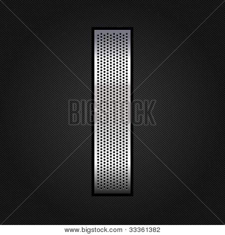 Letter metal chrome ribbon - I
