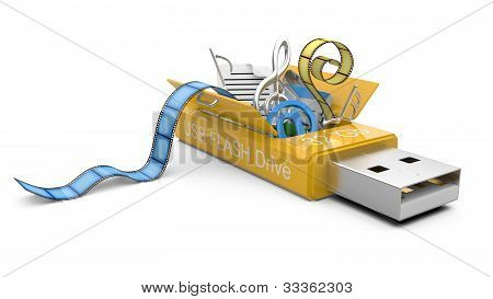 Usb Flash Drive With My Documents