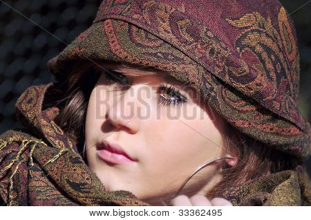 teenage girl with arabic headscarf