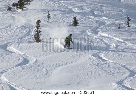 Skiing In The Powder