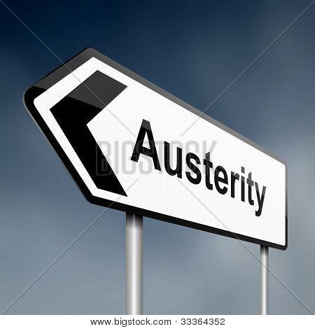 Conceito de austeridade.