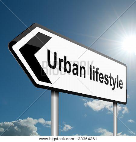 Urban Lifestyle Concept.