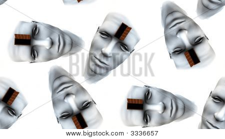 Many Open Heads Tile Pattern Background 6