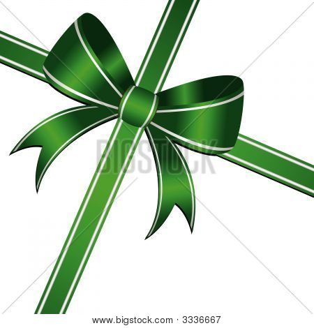 Green Ornamental Bow