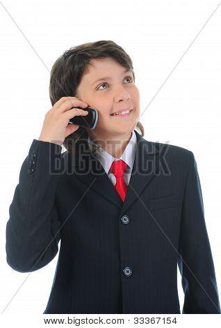 boy talking on the phone.