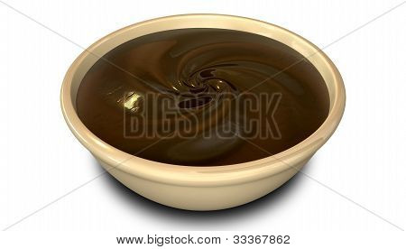 Chocolate Swirl In A  Bowl