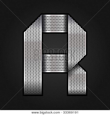 Letter metal chrome ribbon - R