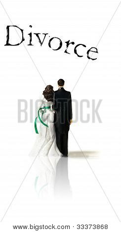 Wedding Couple With Divorce Text