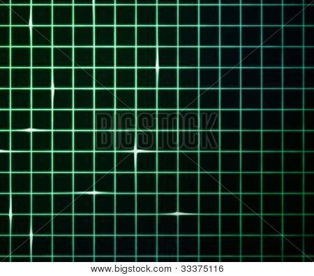 Green Laser Light Grid Background
