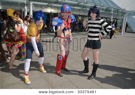 Cosplayers At Londons Mcm Expo 2012 27Th May 2012