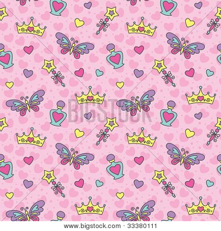 princess seamless pattern