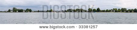 Panorama Of Oxford Maryland From The Chesapeake