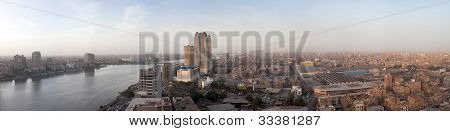 Broad Panorama Of Cairo Egypt At Dusk