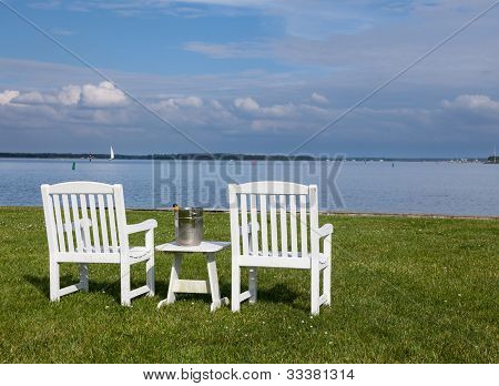 Pair Of Garden Chairs By Chesapeake Bay