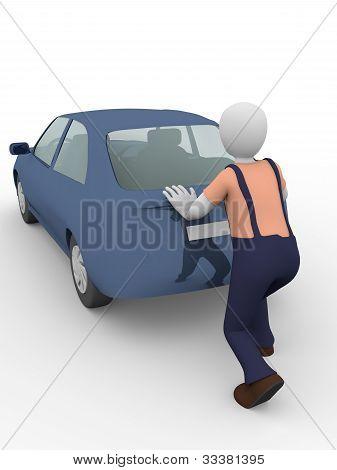 Pushing The Car