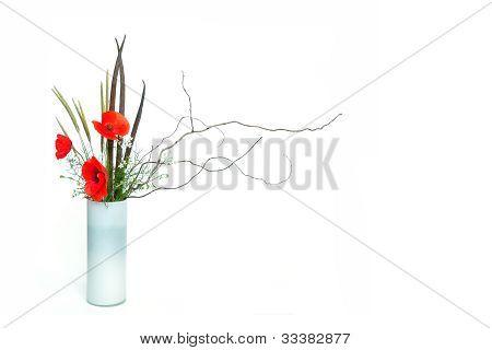 Poppy Ikebana
