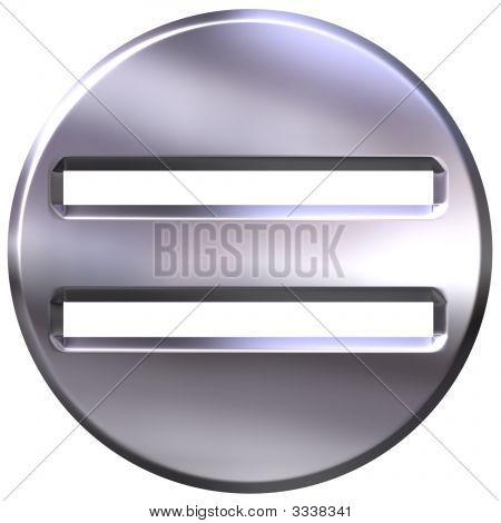 3D Silver Framed Equality Symbol