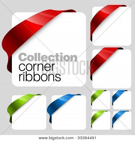 Colección de cintas de esquina de Vector