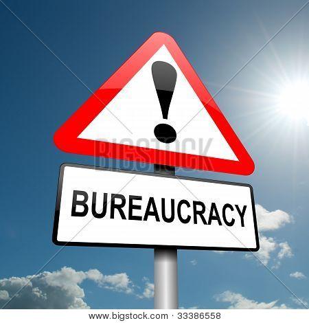Conceito de burocracia.