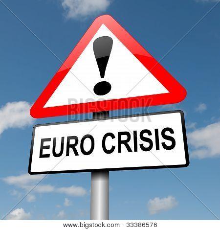 Euro-Krise-Konzept.