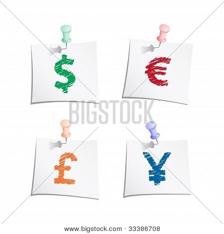 Hands draw money symbols