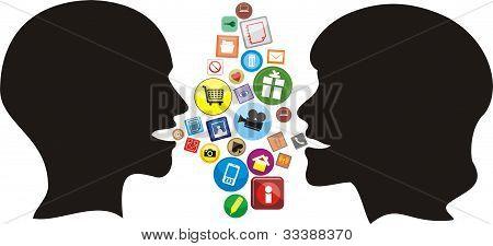 social network - modern conversation