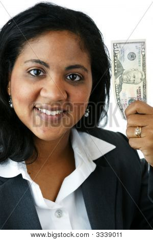 Businesswoman With Money