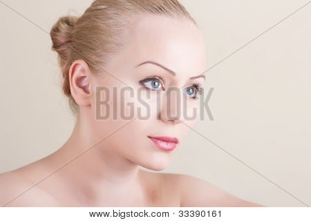 Portrait Of Girl With Beautiful Face