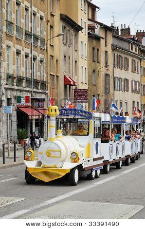 Sightseeing Streetcar In Grenoble