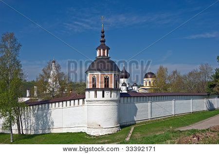 Tower and walls of Assumption Orthodox monastery