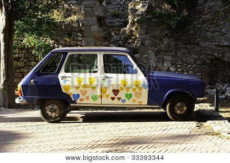 Unique Antique Car Scene