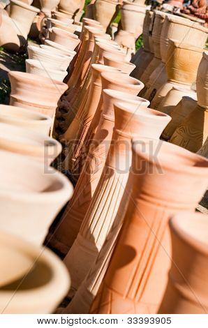 variety of pottery