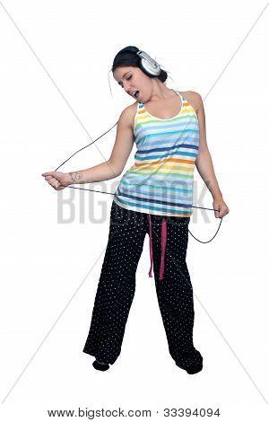 Attractive Brunette With Headphones (1)