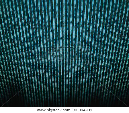Blue Binary Matrix Background