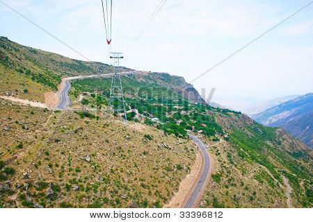 Landscape View From Ropeway Altitude