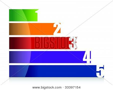 landscape colorful number graph illustration design over white