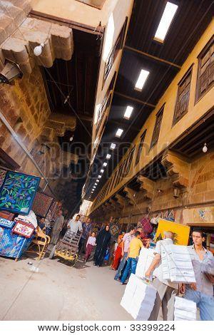 Al Khiamiyya Tentmakers Bazaar Cairo Tilted