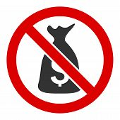 No Funds Raster Icon. Flat No Funds Symbol Is Isolated On A White Background. poster