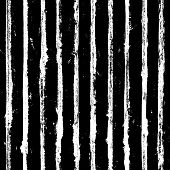 Black And White Stripe Grunge Seamless Pattern. White Stripes On Black Background. Hand Drawn Stripe poster