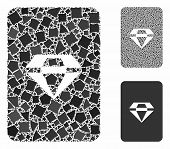 Ruby Gaming Card Mosaic Of Joggly Parts In Variable Sizes And Color Tinges, Based On Ruby Gaming Car poster