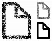 Document Page Mosaic Of Bumpy Items In Various Sizes And Color Tones, Based On Document Page Icon. V poster