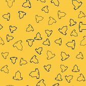 Blue Line Baby Clothes Icon Isolated Seamless Pattern On Yellow Background. Baby Clothing For Baby G poster