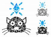 Crypto Kitty Composition Of Inequal Items In Various Sizes And Color Tints, Based On Crypto Kitty Ic poster