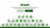 Spark And Sparkle Star Landing Web Page Header Banner Template Vector. Different Glitter And Flare S poster