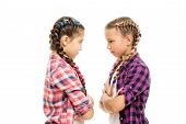 Easy Hairdo For Long Length Hair. Small Childred With Plait Hairdo. Little Girls Wear Long Braid Hai poster